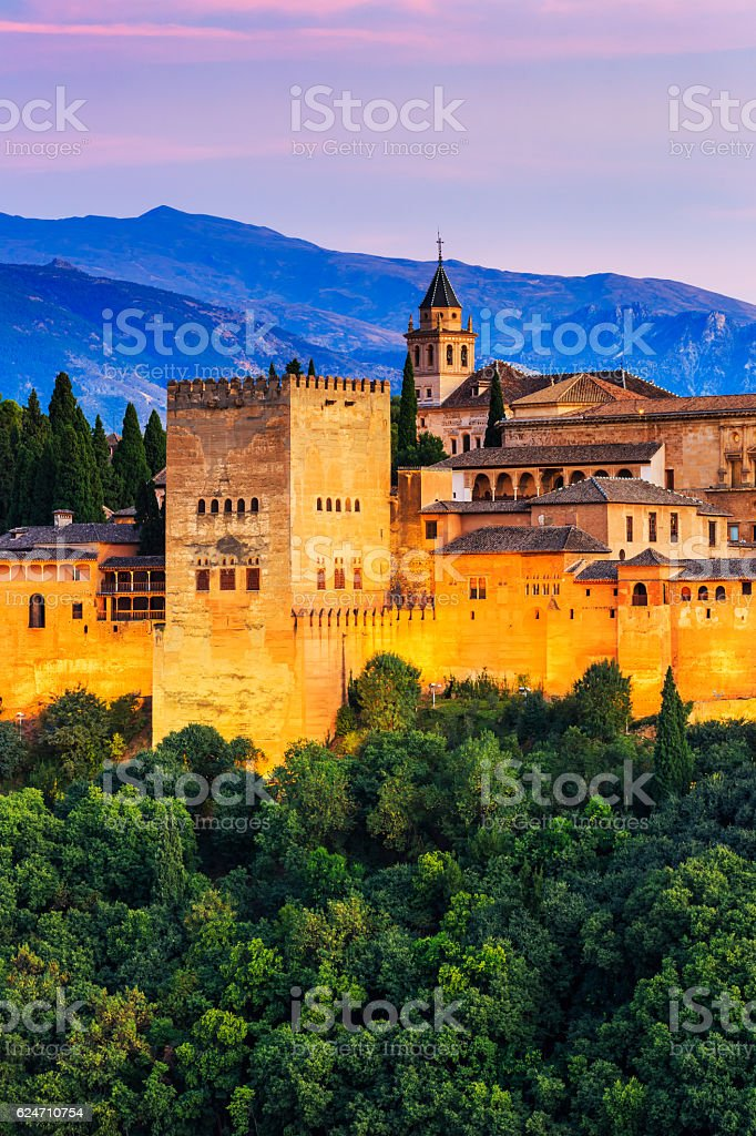 Alhambra of Granada, stock photo
