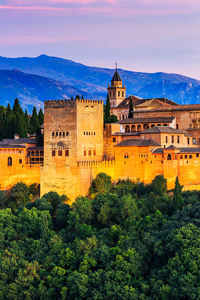 alhambra of granada, - スペイン グラナダ ストックフォトと画像