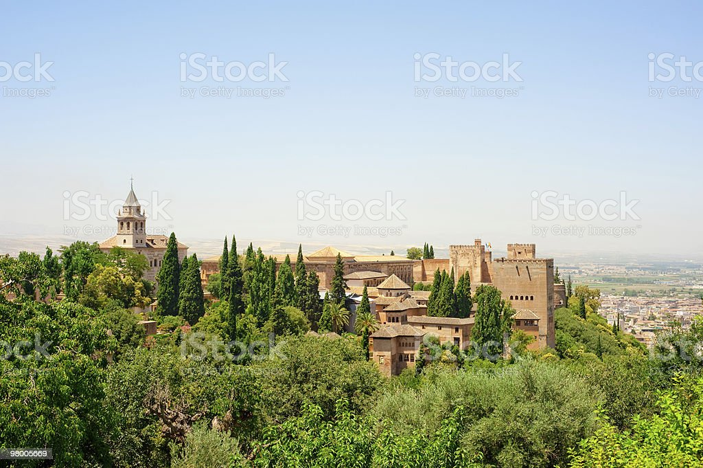Alhambra of Granada, Spain royalty-free stock photo