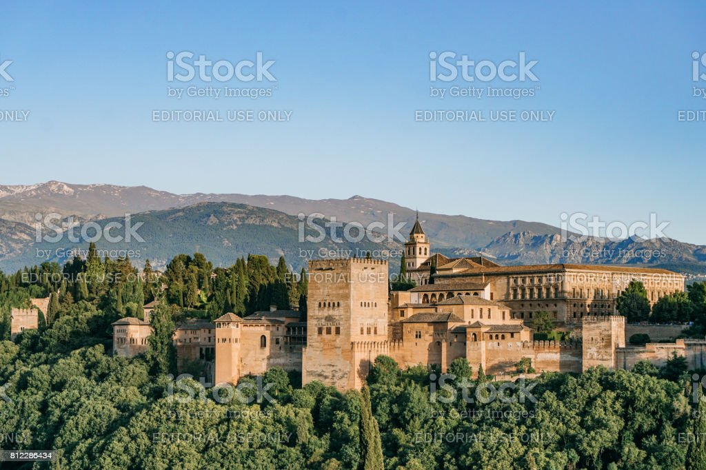 Alhambra Palace at afternoon stock photo