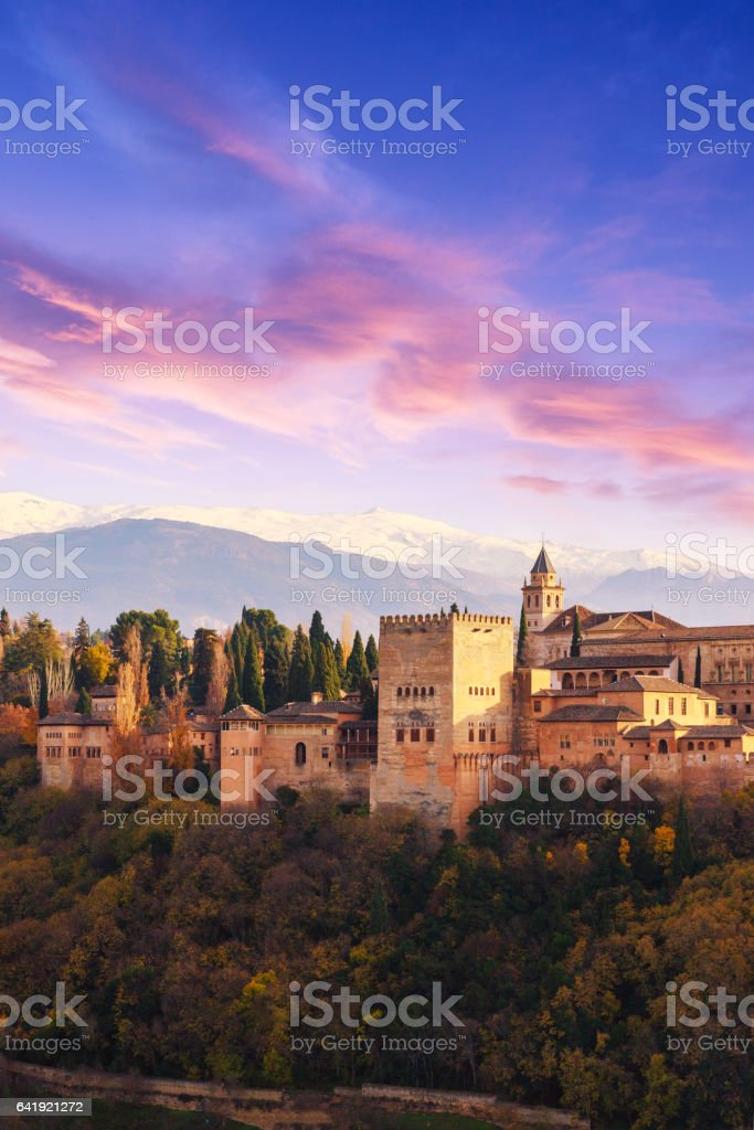 Alhambra palace, Granada, Spain stock photo