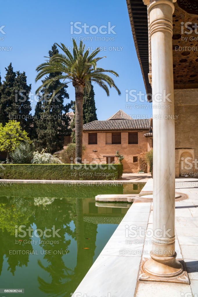 Alhambra Palace Grounds In Granada Andalusia Spain royalty-free stock photo