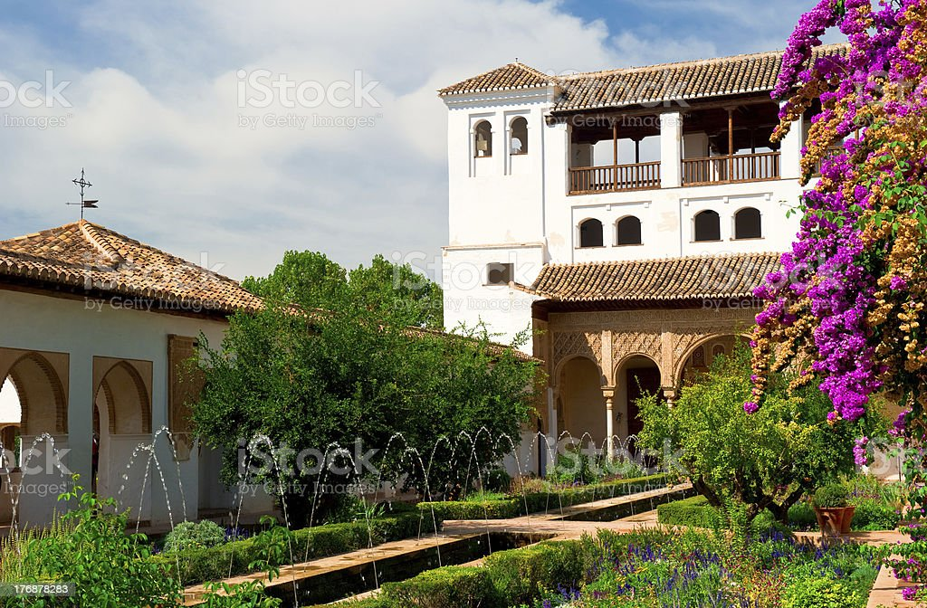 Alhambra palace in Granada stock photo
