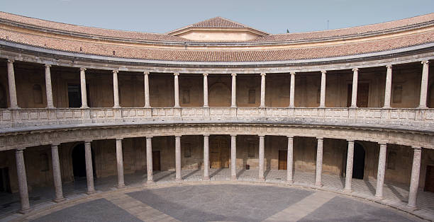 Alhambra Palace Carlos V palace of charles v stock pictures, royalty-free photos & images