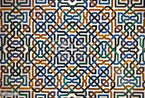 istock Alhambra tile detail 521503408