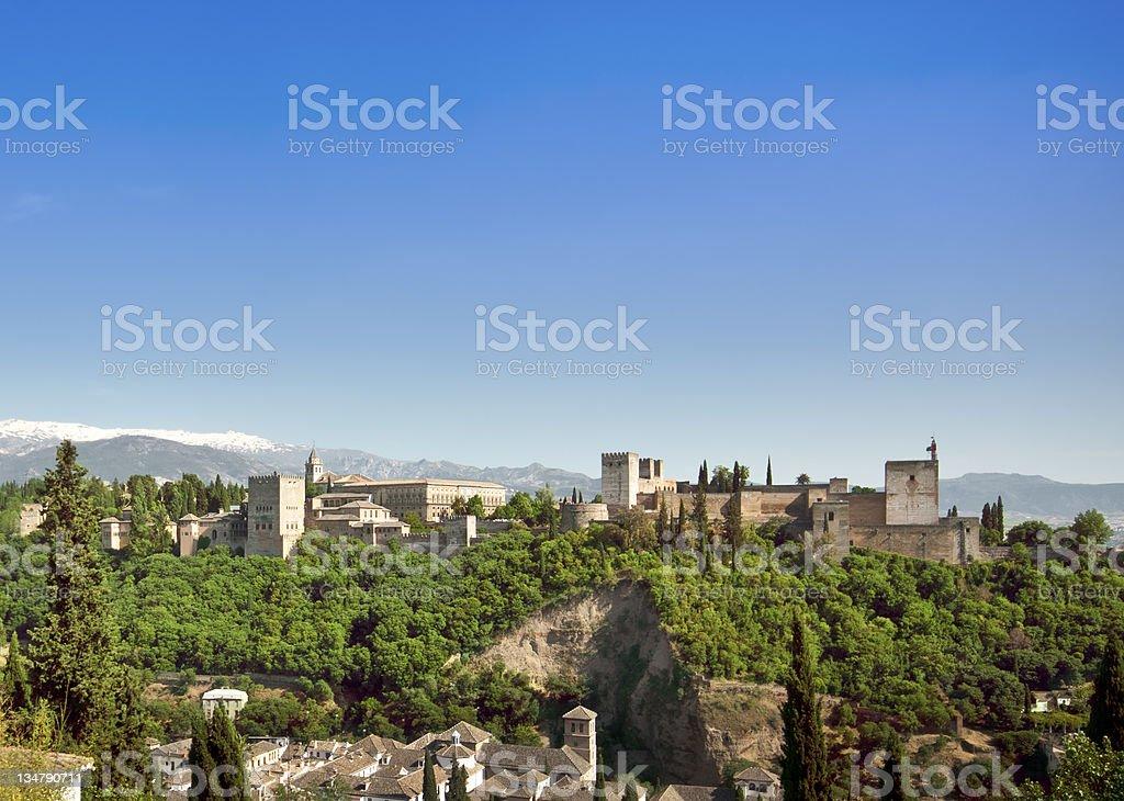 Alhambra view royalty-free stock photo