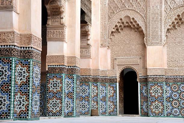 ali ベン・ヨーゼフ madrassa 、マラケシュ、モロッコます。 - ムーア様式 ストックフォトと画像