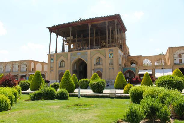 Ali Qapu Palast in Naqsh-e Jahan Quadrat, Isfahan, Iran – Foto