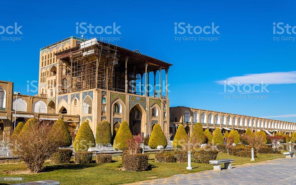 Ali Qapu Palace on Naqsh-e Jahan Square in Isfahan, Iran stock photo