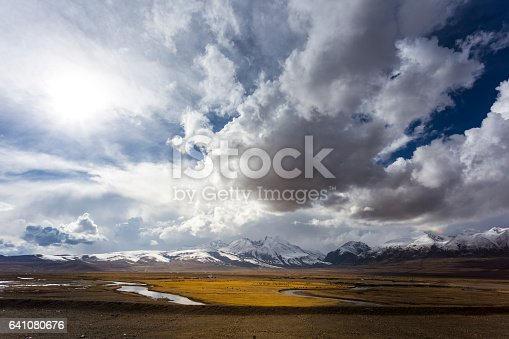 After the heavy snow,Ali Tibetan landscape,China