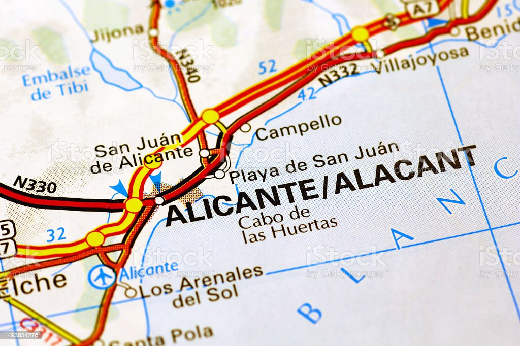 Map Of Spain Alicante Area.Alicante Area On A Map Stock Photo More Pictures Of 2015 Istock