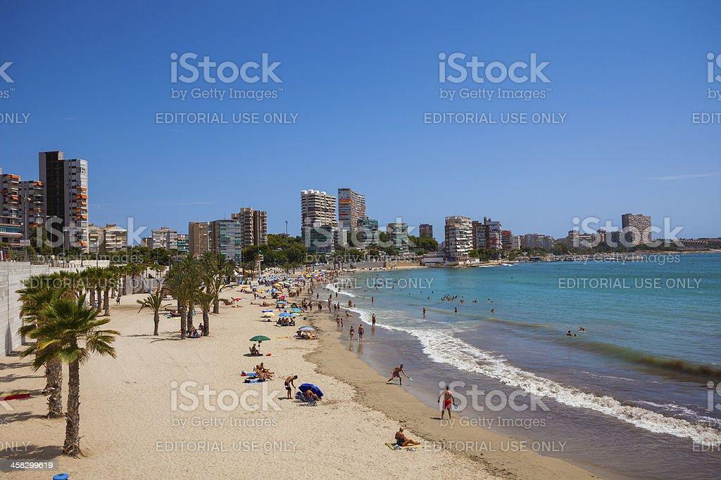 Alicante Strand im Sommer, Spanien – Foto