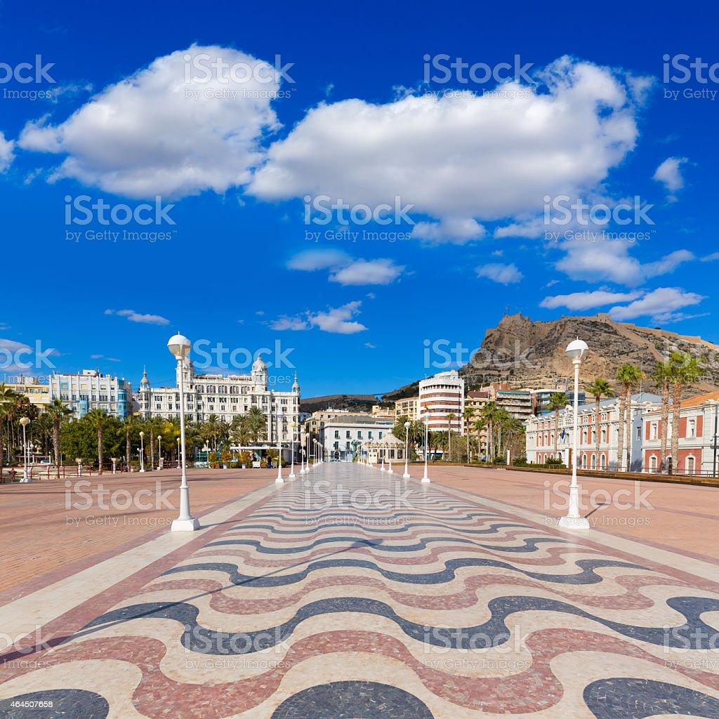 Alicante Stadt und Burg von port mediterrane Spanien – Foto