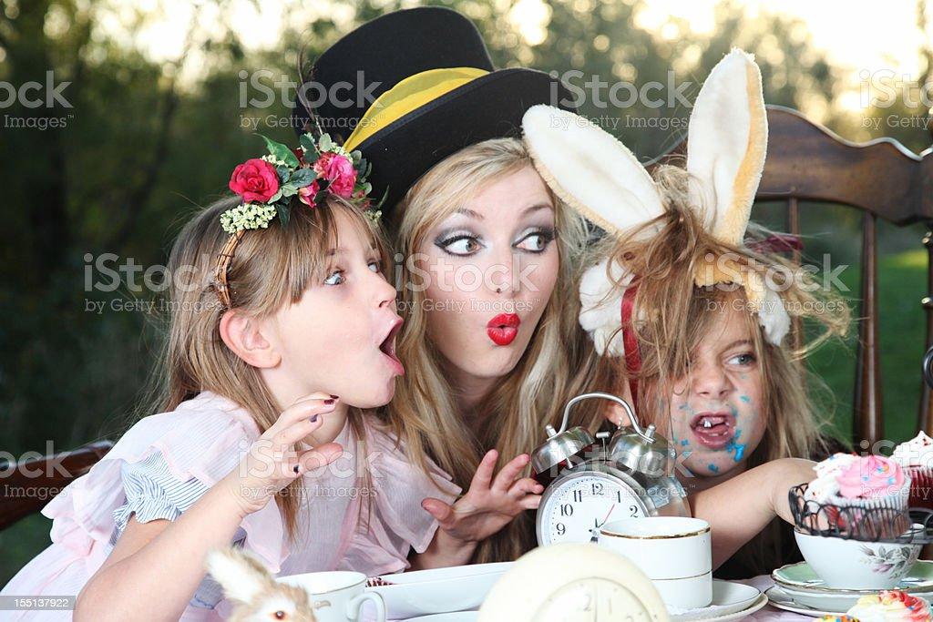 Alice in Wonderland Tea Party stock photo