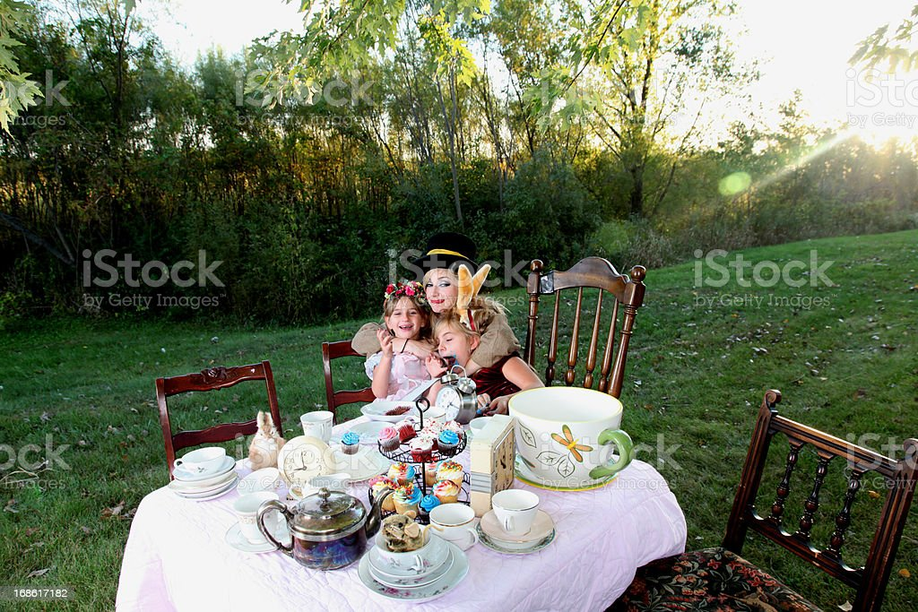 Alice in Wonderland Tea Party stock photo