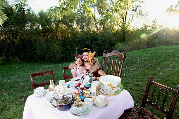Alice in Wonderland Tea Party - foto de stock