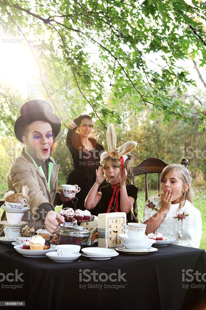 Alice in Wonderland Tea Party royalty-free stock photo
