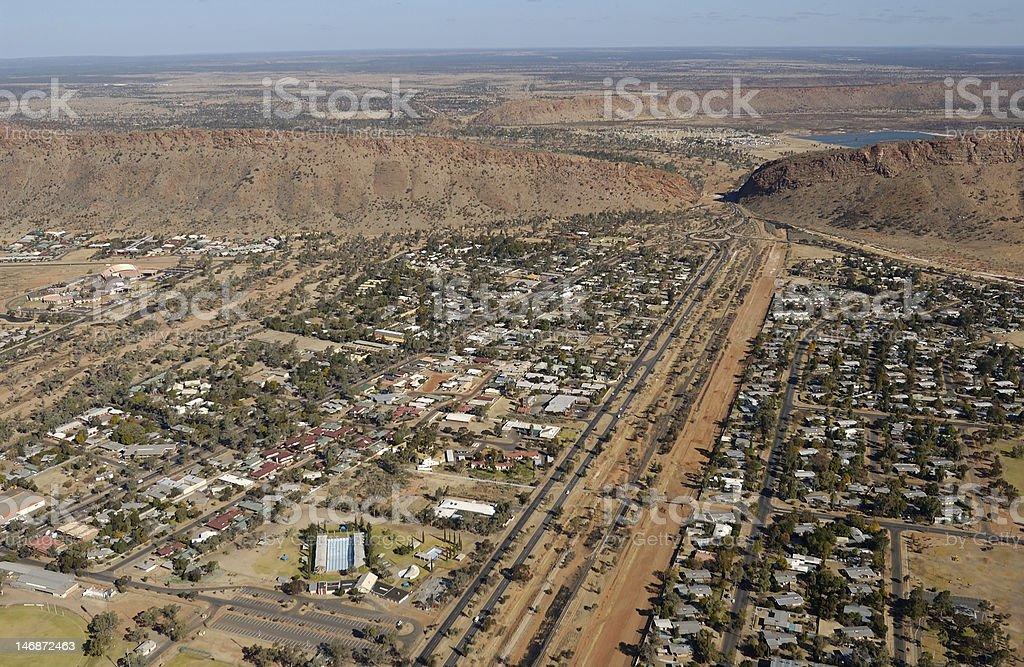 Alice Springs aerial royalty-free stock photo
