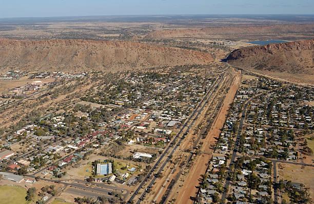 Alice Springs aerial stock photo