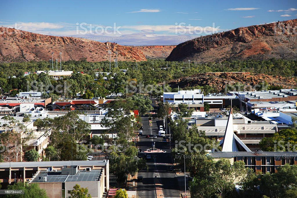 Alice Springs stock photo