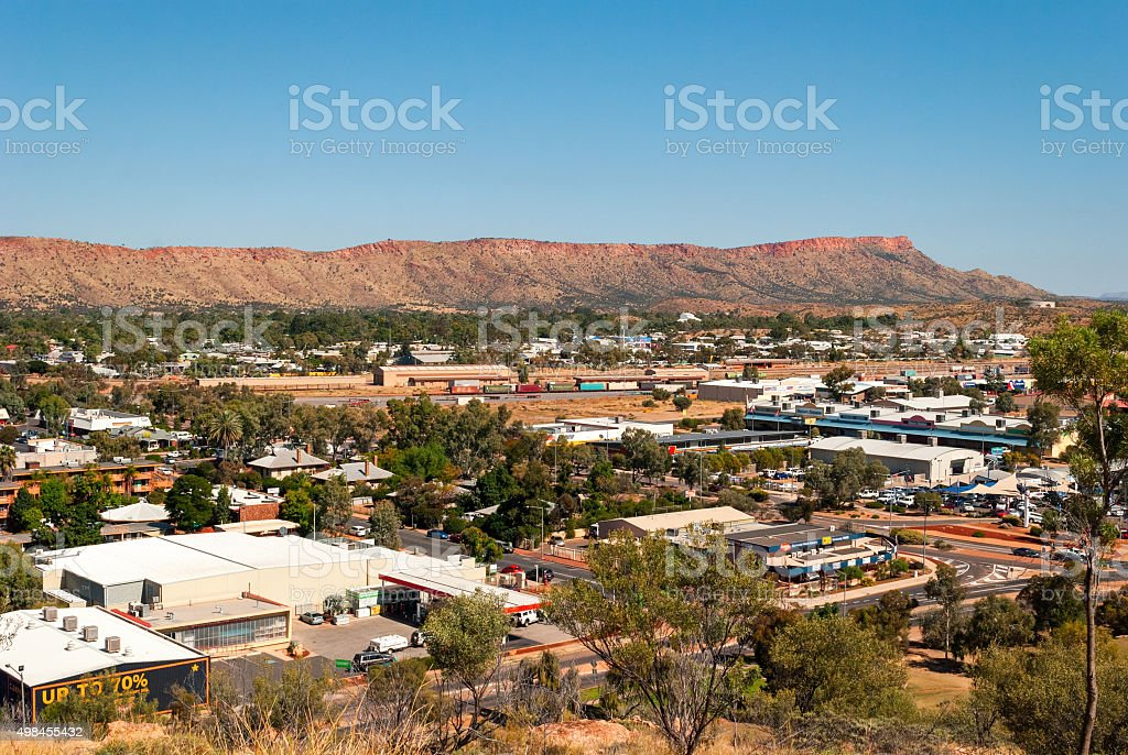 Alice Springs (Northern Territory Australia) stock photo