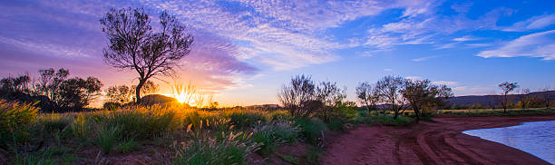 Alice Springs Sunset stock photo