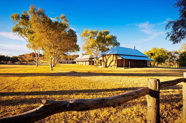 Alice Springs Telegraph Station stock photo