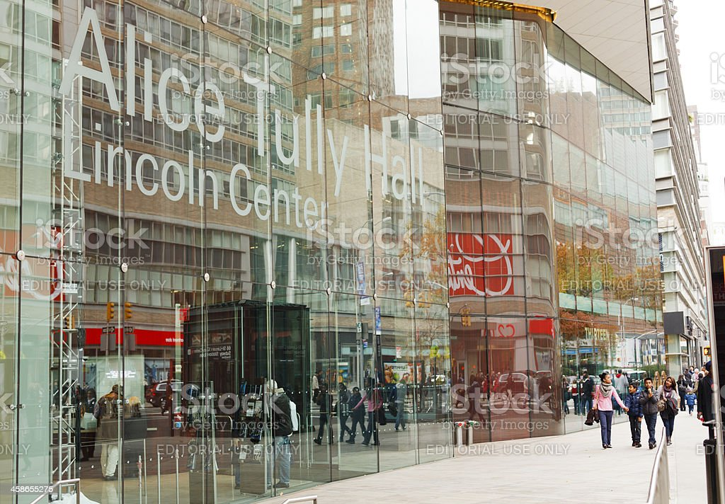 Alice Tully Hall Lincoln Center New York City stock photo