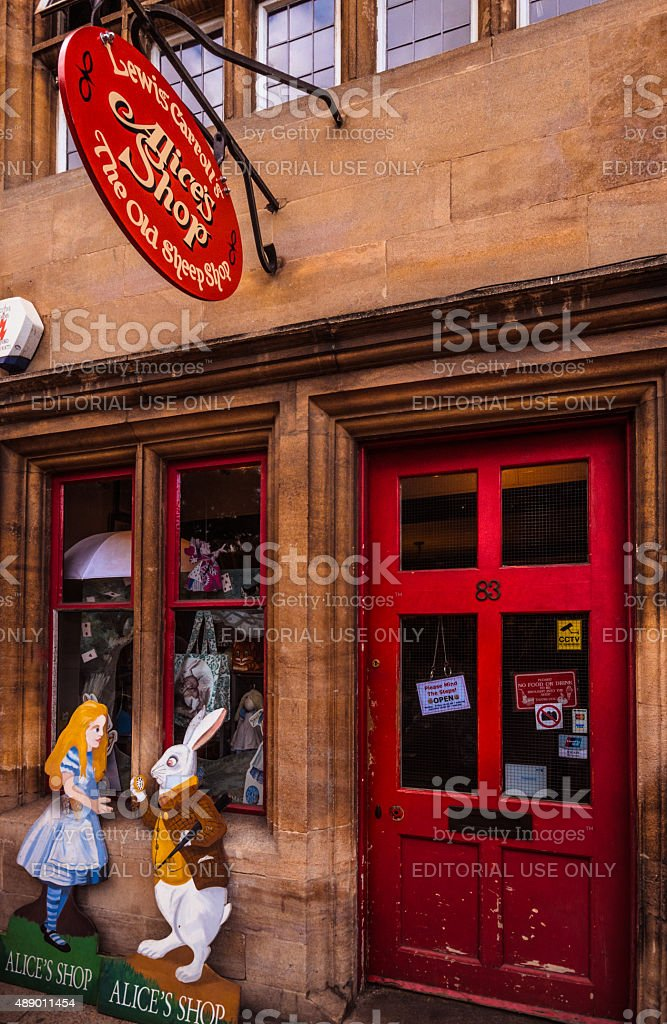 Alice's Adventures in Wonderland - Alice's Shop, Oxford stock photo