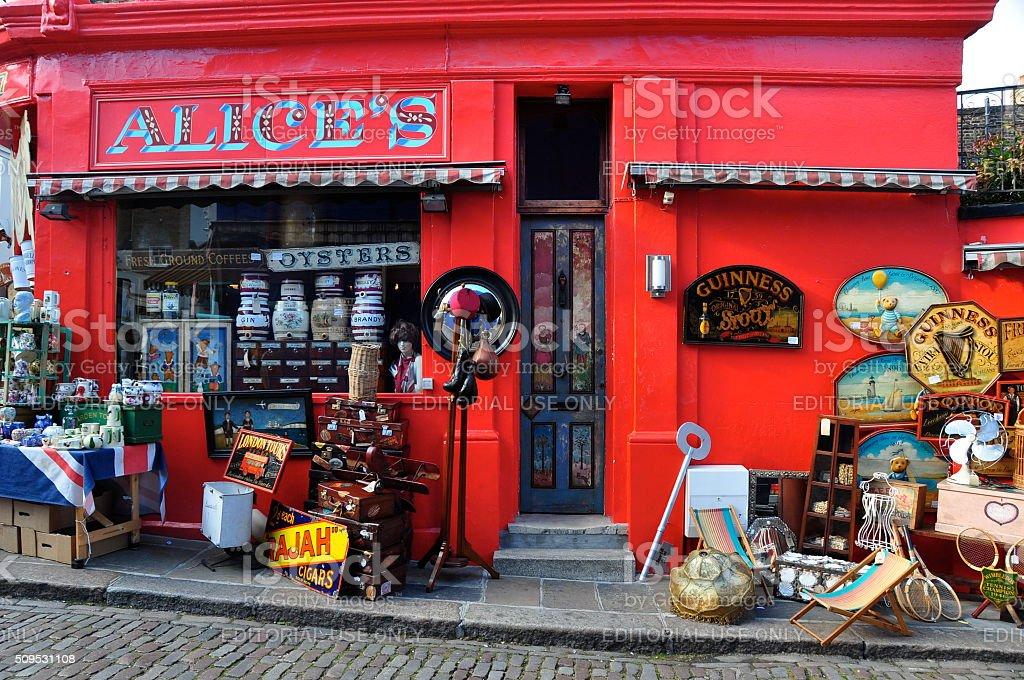 Alice's on Portobello Road stock photo