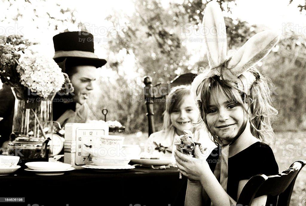 Alice's Tea Party stock photo