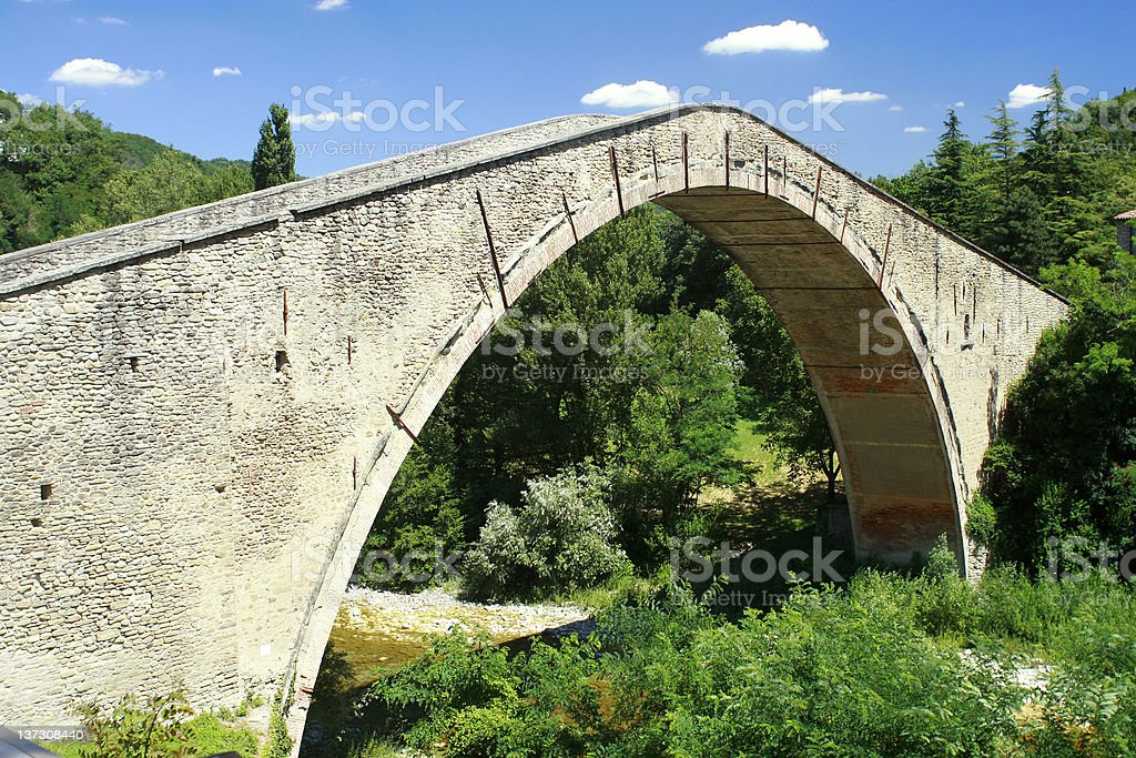 Alidosi Bridge - Italy stock photo