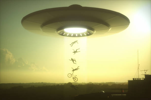 UFO Alien Abduction stock photo