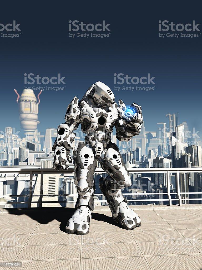 Alien Battle Droid - City Watch stock photo