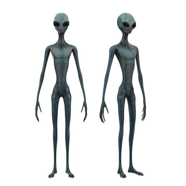 buitenaardse wezens geïsoleerd - buitenaards wezen stockfoto's en -beelden