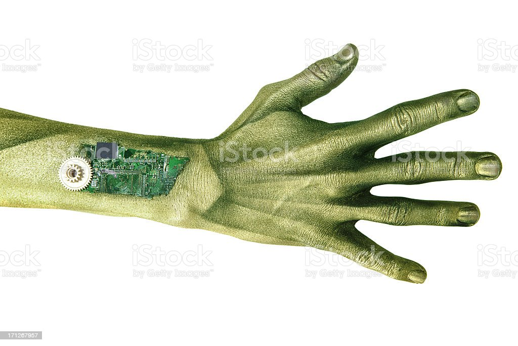 Alien Cyborg Hand stock photo