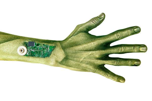 Alien Cyborg Hand stock photo