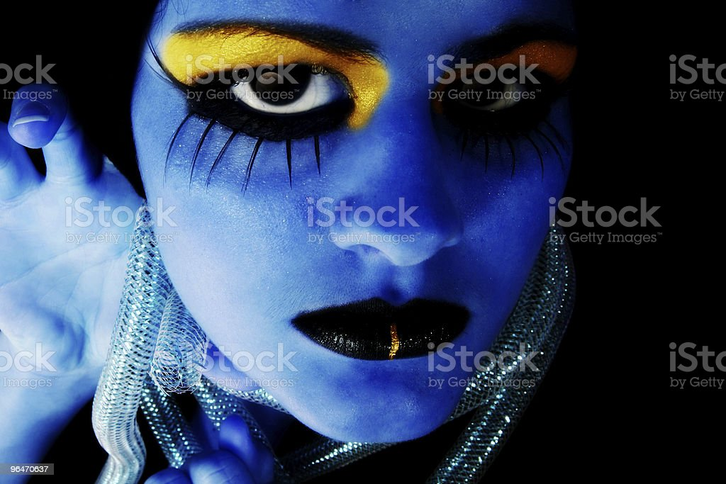 Alien Girl royalty-free stock photo