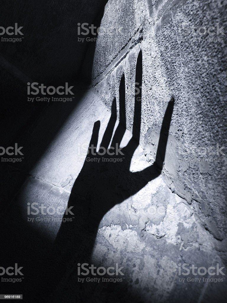 alien horror hand royalty-free stock photo