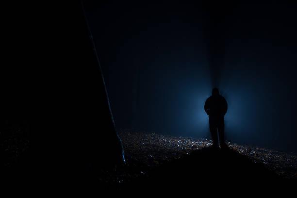 alien na floresta escura - foto de acervo