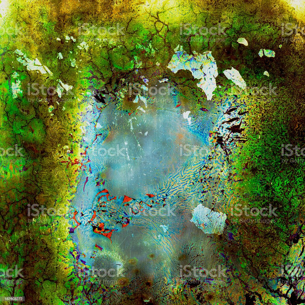 Alien Infection Wallpaper royalty-free stock photo