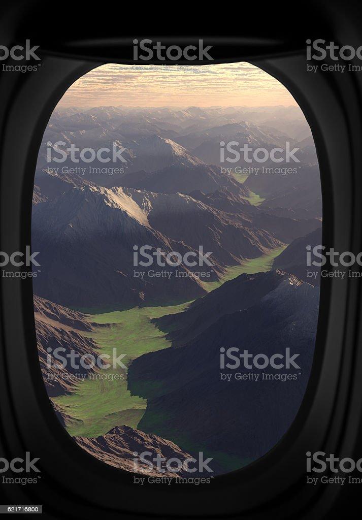 Alien landscape. stock photo