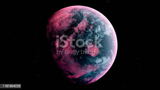 istock Alien Planet in the outer space. 3d rendering 1161504223