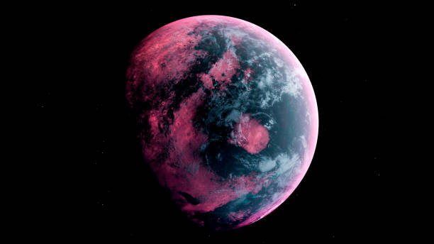 Alien Planet in the outer space. 3d rendering Alien Planet in the outer space. 3d rendering. planet space stock pictures, royalty-free photos & images