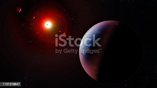 istock Alien planetary system. Collage. Elements of this image furnished by NASA. 1131318647