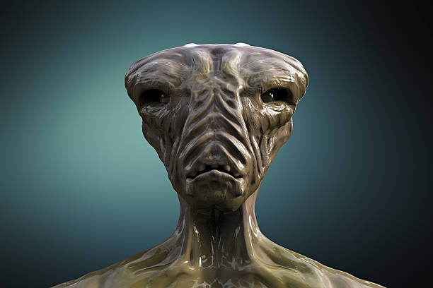 SCIFI alien retrato - foto de stock