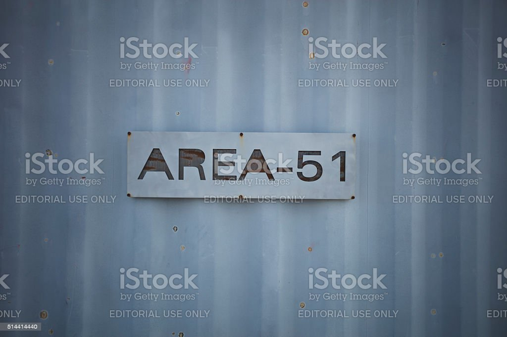 Alien Research Center Area 51 Sign stock photo