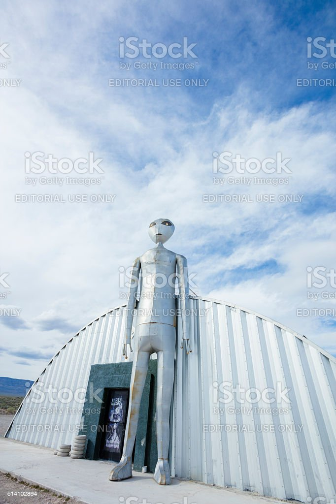 Alien Research Center stock photo