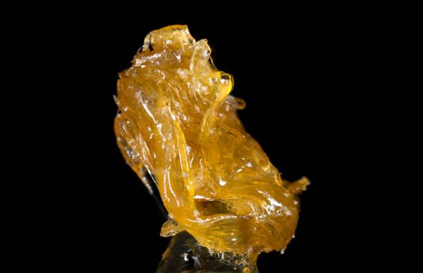 Alien Rock C Cannabis Shatter Hash stock photo