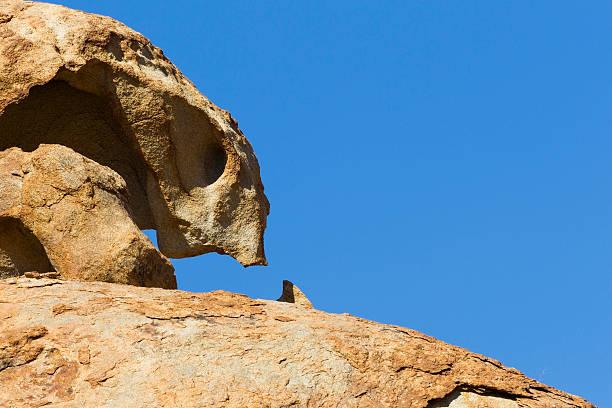 Alien rock formation at Bloedkoppie stock photo
